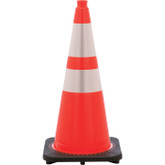 "JBC Safety Revolution DOT Traffic Cone, Hi-Viz Orange, 28"" Tall, 6"" & 4"" Reflective Collar, 7 lbs, Mfg# RS70032CTM64"