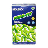 Moldex 6800 Pura-Fit Uncorded Green Ear-Plugs, NRR 33dB, 200 Pair/Box, 6800