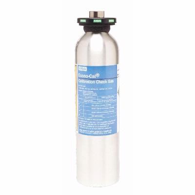 MSA 10153844 Econo-Cal Calibration Gas, 34 Liter, 20 PPM H2S, Smart RFID  Ring for GX2 Smart Cylinder Holder, Hazmat