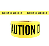 "Barricade Tape, Caution Do Not Enter, Yellow with Black Letters, 3"" x 1000 ft, 2.4 mil thickness, Mfg# CDNE-2"