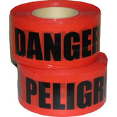 "Barricade Tape, Danger - Peligro (English & Spanish), 3"" x 1000 ft, Mfg# DP-2"