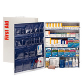 First Aid Only 200 Person Industrial 5 Shelf First Aid Metal Cabinet With Medications, ANSI Compliant
