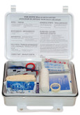 Pac-Kit Safety 25 Person First Aid Kit, Weatherproof Plastic Case
