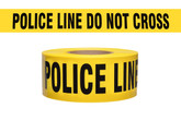 "Barricade Tape, Police Line Do Not Cross 3"" x 1000 ft, 2.4 mil thickness, Mfg# CPL-2"