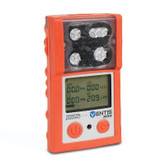Ventis MX4 Gas Monitor, O2 LEL H2S CO, Industrial Scientific, Hi-Visibility Orange Color, Diffusion, Mfg# VTS-K1231101101