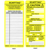 SCAFFTAG Yellow Caution Inserts by Brady ID | Mfg#104114
