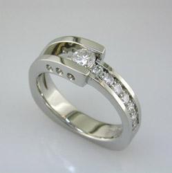 Palladium Diamond Engagement Ring