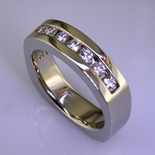 Anniv 37 - Diamond anniversary band custom made for customers engagement ring.