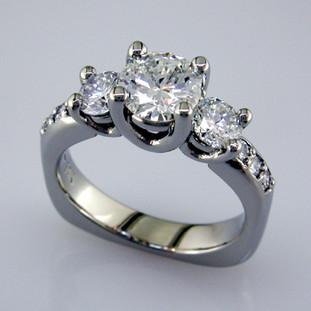 Ladies custom designed white gold diamond engagement ring- wed 332
