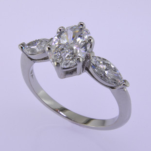 Ladies custom designed white gold diamond engagement ring- wed 330