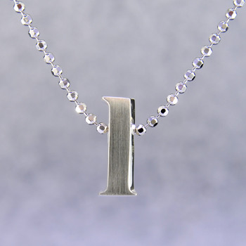 "What's your story? Begin with this Little ""L"" initial, solid Sterling Silver pendant. Wear it alone, with other pendants, or layered with other necklaces. Comes with a sterling silver ball chain, 16 inches long. The pendant measures 1/4 inch long. Too cute!  Signified by a feminine sensibility and optimistic charm, Alex Woo's Little Icon Collections reinvent familiar symbols from the world around us into fresh and expressive designs.  Designed and handcrafted in our studio."