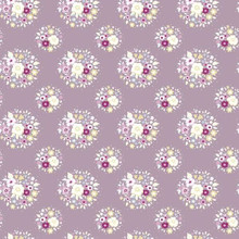 Tilda Autumn Tree Fabric - Thula - Lilac 1/2 Metre Length