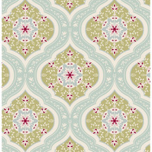 Tilda Spring Lake Fabric - Aurora Teal 1/2 Metre Length