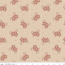 Romancing in the past C4274-BEIGE Romance Bouquet Beige 1/2 Metre Length