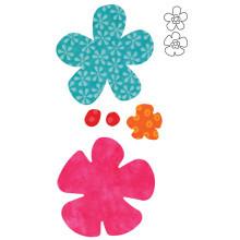 55042 - AccuQuilt Die -  Funky Flowers