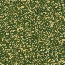 Winter's Grandeur 3 - 15192 -Green 1/2 Metre Length