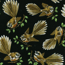 Fantails Col. 3 Black  1/2 Metre Length