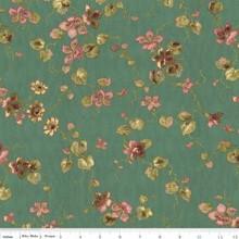 Isabella Teal Medium Floral 1/2 Metre Length
