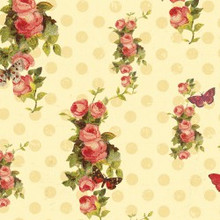 Devotion - Floral Dot Cream 1/2 Metre Length