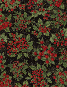 Holiday CM4279 Holly Black 1/2 Metre Length