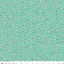 TOY DAISY TEAL 1/2 Metre Length