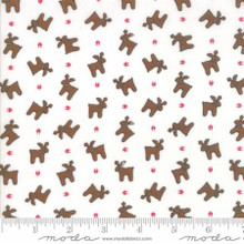 Sugar Plum Christmas White 2912-12 by Bunny Hill 1/2 Meter length