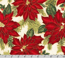 Poinsettia Holiday Flourish - Robert Kaufman per 1/2 metre length