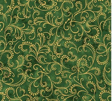 Evergreen -Holiday Flourish Robert Kaufman  per 1/2 metre length