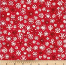 Scandi Christmas snow flake  per half metre length