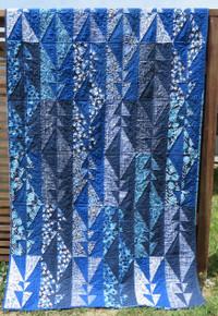 "Mark Maker Indigo  Quilt Kitset 54 1/2"" x 90 1/2"" designer Valori Wells"