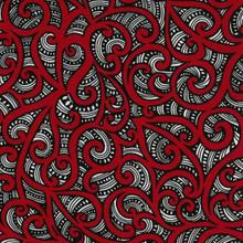 Te Koripi Wae Col.101 Red 1/2 Metre Length