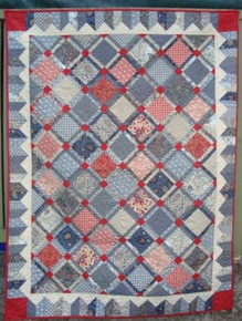 "Romani Bleu II  Quilt  53"" X 70""  Custom Quilted   ONE ONLY"
