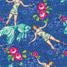 What Would Poseidon Say? - Blue - PWTM005 - 1/2 Metre Length