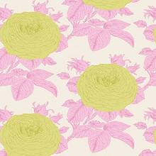 Tilda Sunkiss Grandmas Rose Pink - per half metre length