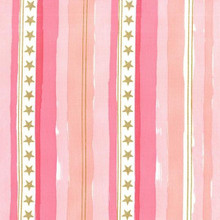 Magic Stars and Stripes -Michael Miller - Pink gold over - per half meter length