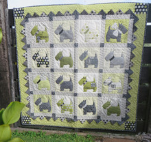 "Scotty Quilt - Bitsy Button & Friends finished  48 "" X  48"""