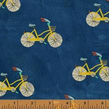 Wonder 50516 col 2 blue bicycles by Carrie Bloomston  - per half metre
