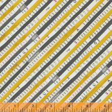 Wonder 50519-5 col yellow stripe by Carrie Bloomston  - per half metre length