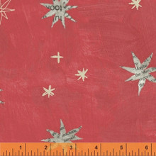 Wonder 50517-6 col  red stars by Carrie Bloomston  - per half metre length