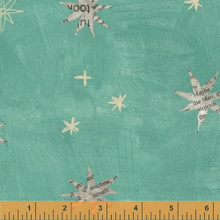 Wonder 50517-3 col  green star by Carrie Bloomston  - per half metre length