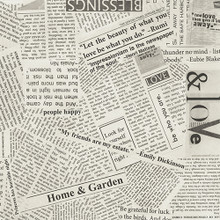 Wonder 108 newspaper quilt back by Carrie Bloomston  - per half metre length