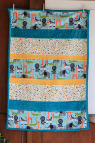 Bambino Jungle Animals Cuddle Minky  Finished size 30 x 38 - includes backing