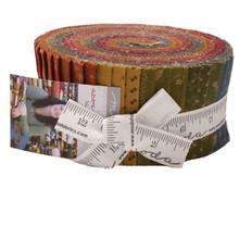 "Moda Primitive Gatherings - Flower Garden Gatherings 2 1/2"" Jelly Roll"
