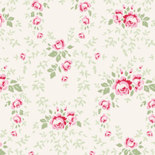 Tilda Old Rose 100201 Lucy Red Rose - per half meter length