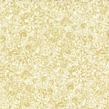JR Christmas - Cream goldover  per half meter length