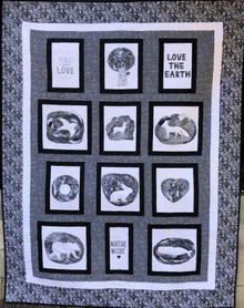 """Love the Earth Quilt Kitset-Finished size   62 1/2""""x 81 1/2"""""""