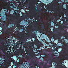 NZ BIRDS BALI - Prussian 1/2 Metre Length
