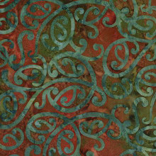 NZ SWIRL - JUNGLE 1/2 Metre Length