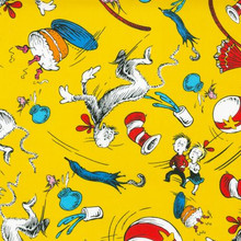 CELEBRATION CAT IN THE HAT YELLOW 1/2 Metre Length