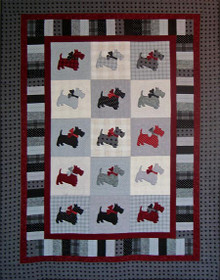 Scottie Dogs Flannel Quilt